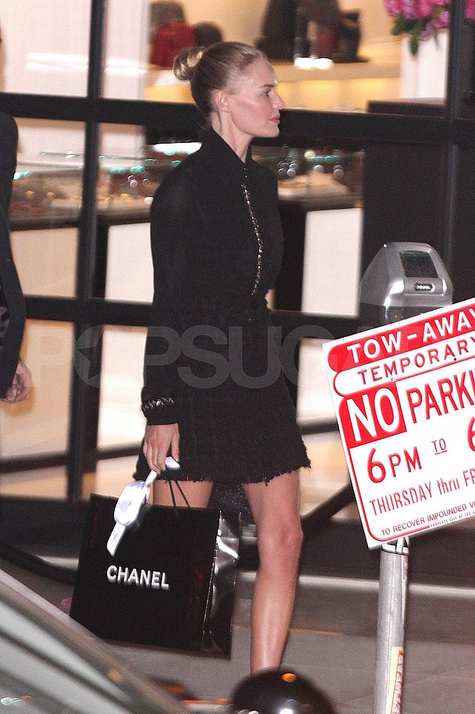 Kate Bosworth left a LA Chanel party.