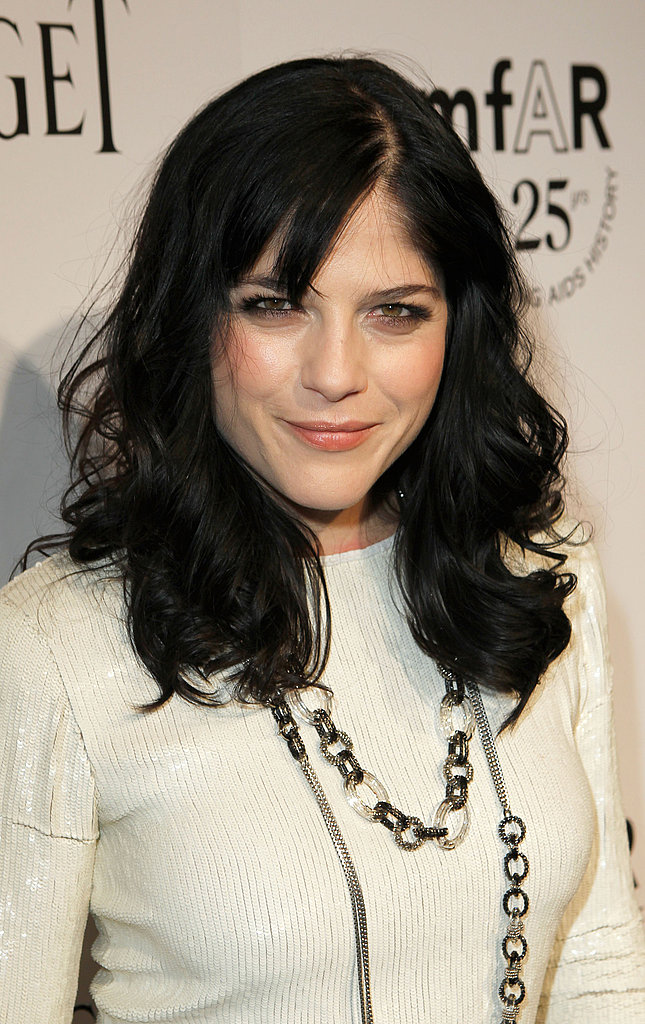 Selma Blair on the black carpet at the 2011 amfAR Inspiration Gala.