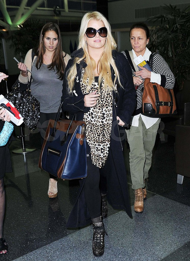 Jessica Simpson at JFK.