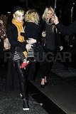 Jessica Simpson and Ashlee Simpson get dinner in NYC with Bronx Wentz.