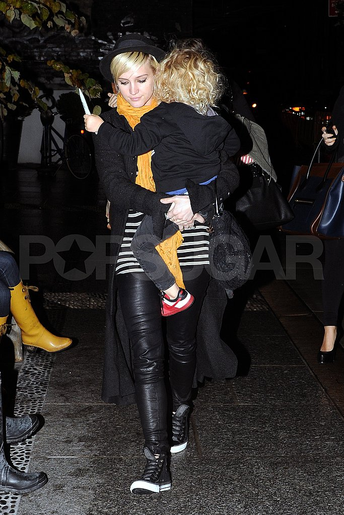 Bronx Wentz and Ashlee Simpson headed to dinner.
