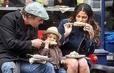 Matthew McConaughey, Levi, and Camila Alves chowed down on corn on the cob in NYC in March 2010.