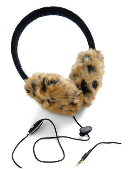 Leopard Headphone Earmuffs ($43)