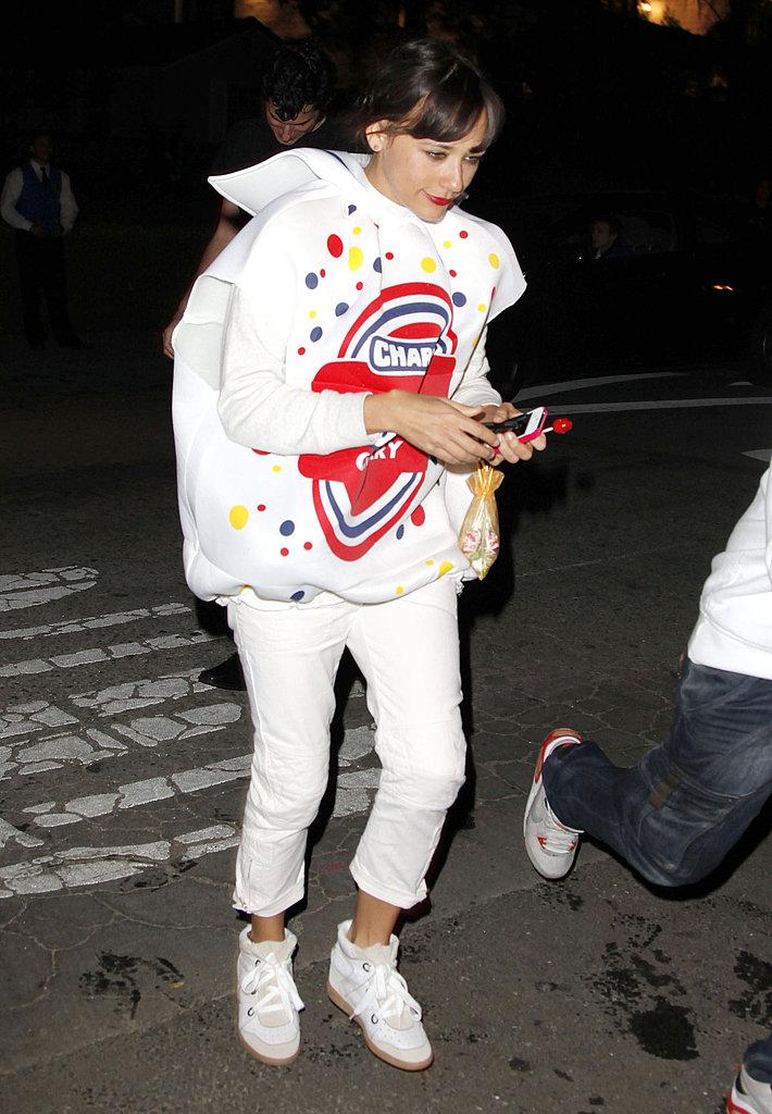 Rashida Jones dressed as a Blow Pop in 2011.