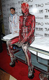 "Heidi Klum made an entrance as a ""Visible Woman"" to her own Halloween party in Las Vegas in 2011."