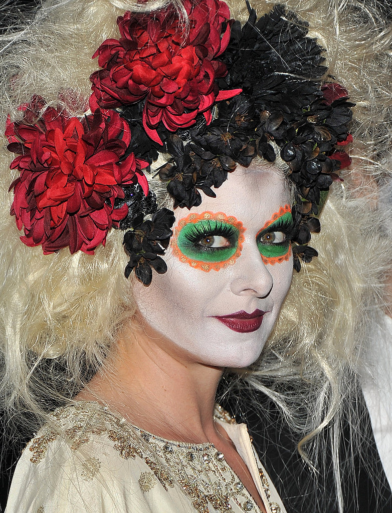 Debra Messing is drop-dead gorgeous in her Dia de los Muertos getup.