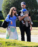 Natalie Portman and Benjamin Millepied took their son Aleph Millepied to the Huntington Library, Art Collections, and Botanical Gardens.
