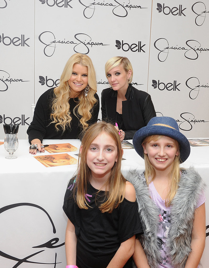 Jessica Simpson and Ashlee Simpson met with fans in NC.