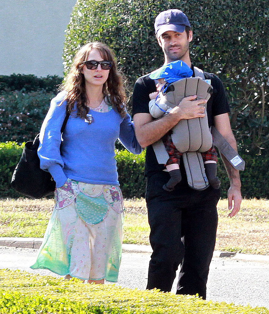 Natalie Portman and Benjamin Millepied out in LA with son Aleph Millepied.