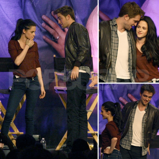 Robert Pattinson and Kristen Stewart Share Sweet Glances at Breaking Dawn Fan Event
