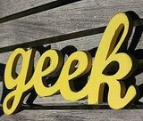 Recycled Wood Geek Sign