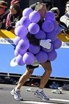 Grape Costume in the NYC Marathon