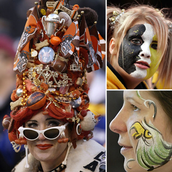 See NFL Fans Sport Fun, Spirited Beauty Looks