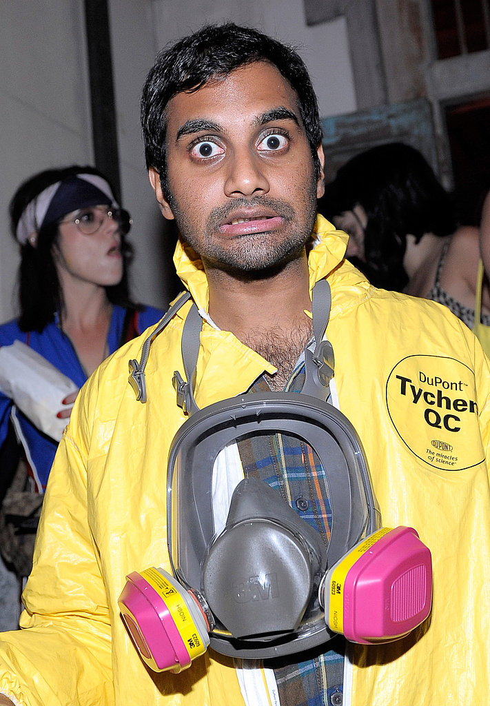Breaking Bad Cooker Aziz Ansari was ready to make meth in a suit that looked just like the ones Walter and Jesse wear.