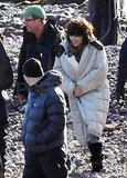 Scarlett Johansson filming Under the Skin.