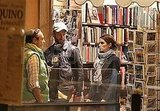 Nikki Reed and Paul McDonald shopping in Rome.