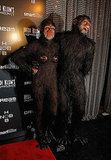 Heidi Klum and Seal posed together at her Halloween party.