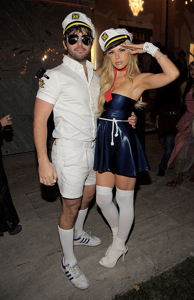Jason Gann and Sophie Monk looked ready to take on the high seas in their sailor suits in 2011.