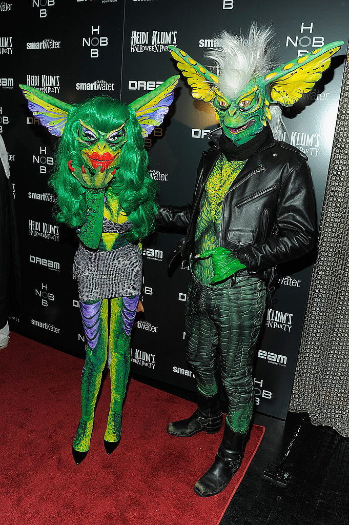 Phillipe and David Blond are decked out in their Gremlins outfits!