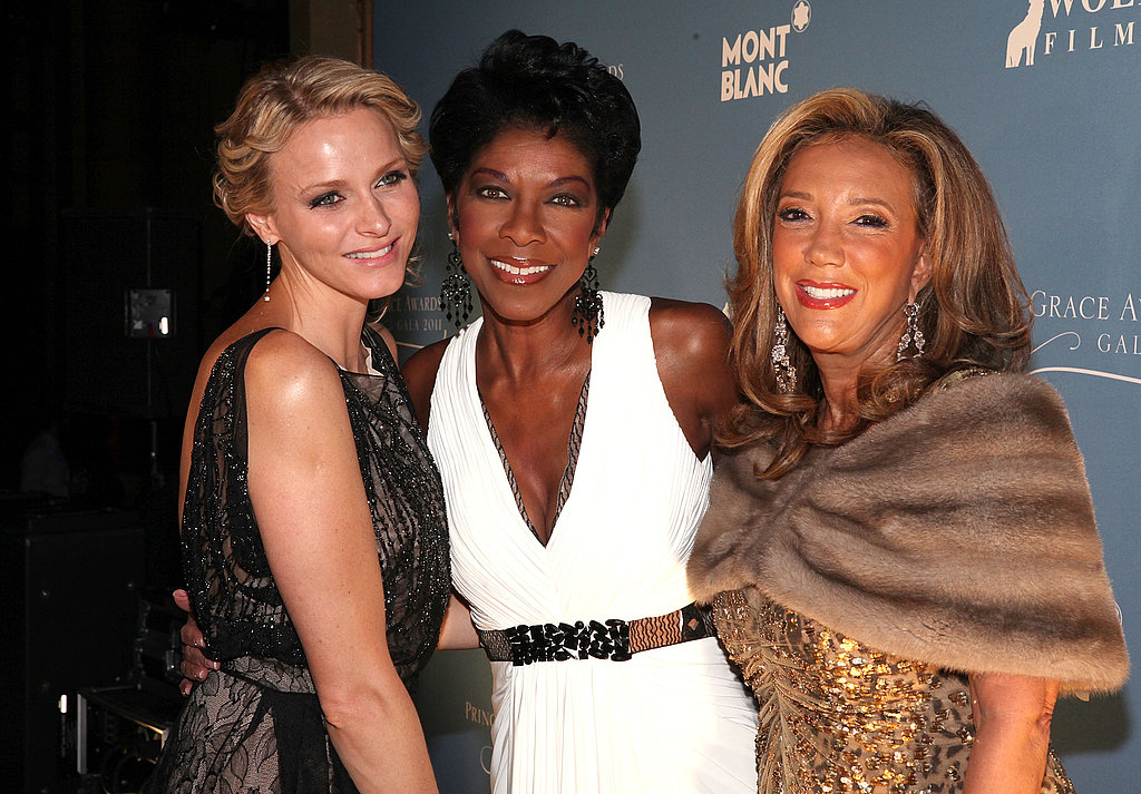 Princess Charlene, Natalie Cole and Denise Rich
