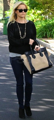 Reese Witherspoon Carrying Two-Tone Celine Bag