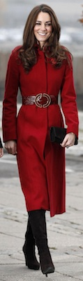 Kate Middleton in Red LK Bennett Coat