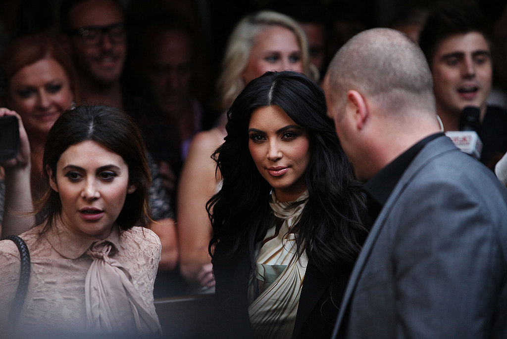 Kim Kardashian was led into an event in Sydney.