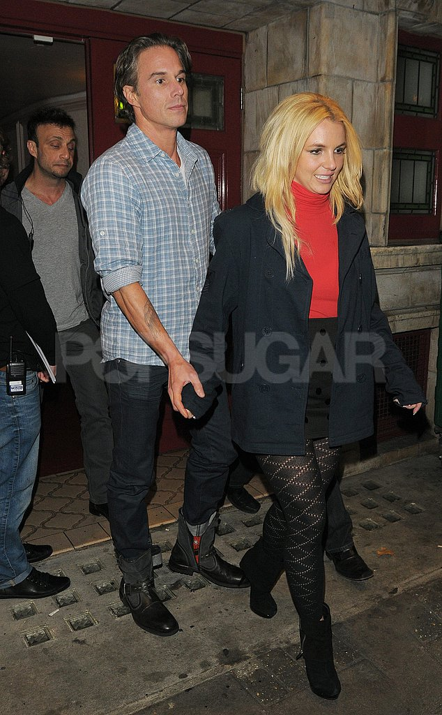 Britney Spears and Jason Trawick had a night at the theater.