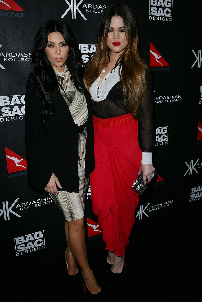 Kim and Khloe Kardashain launched their new collection in Sydney.