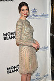 Anne Hathaway came out to support Mont Blanc's new Princess Grace collection.