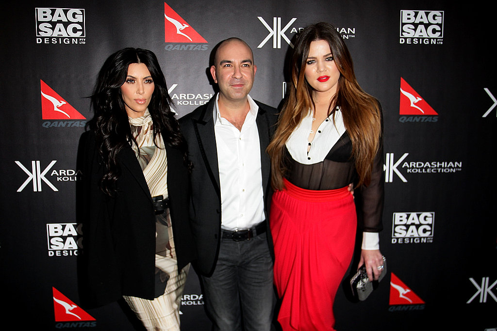 Kim and Khloe Kardashian hung out with Bruno Schiavi in Sydney.