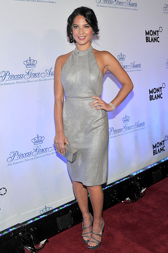 Oliva Munn at the Princess Grace Awards Gala.