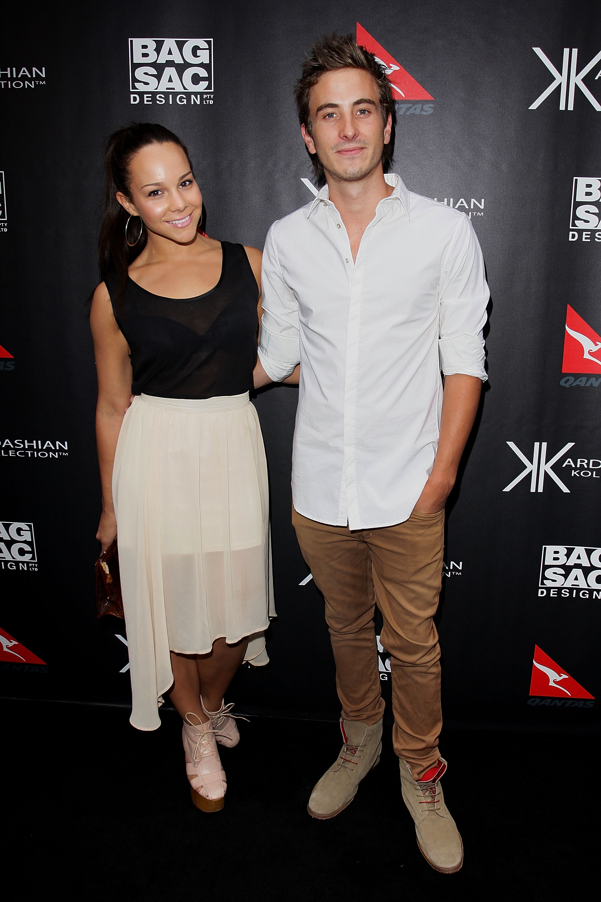 Dina Caplan and Ryan Corr at the Kardashian Kollection launch.