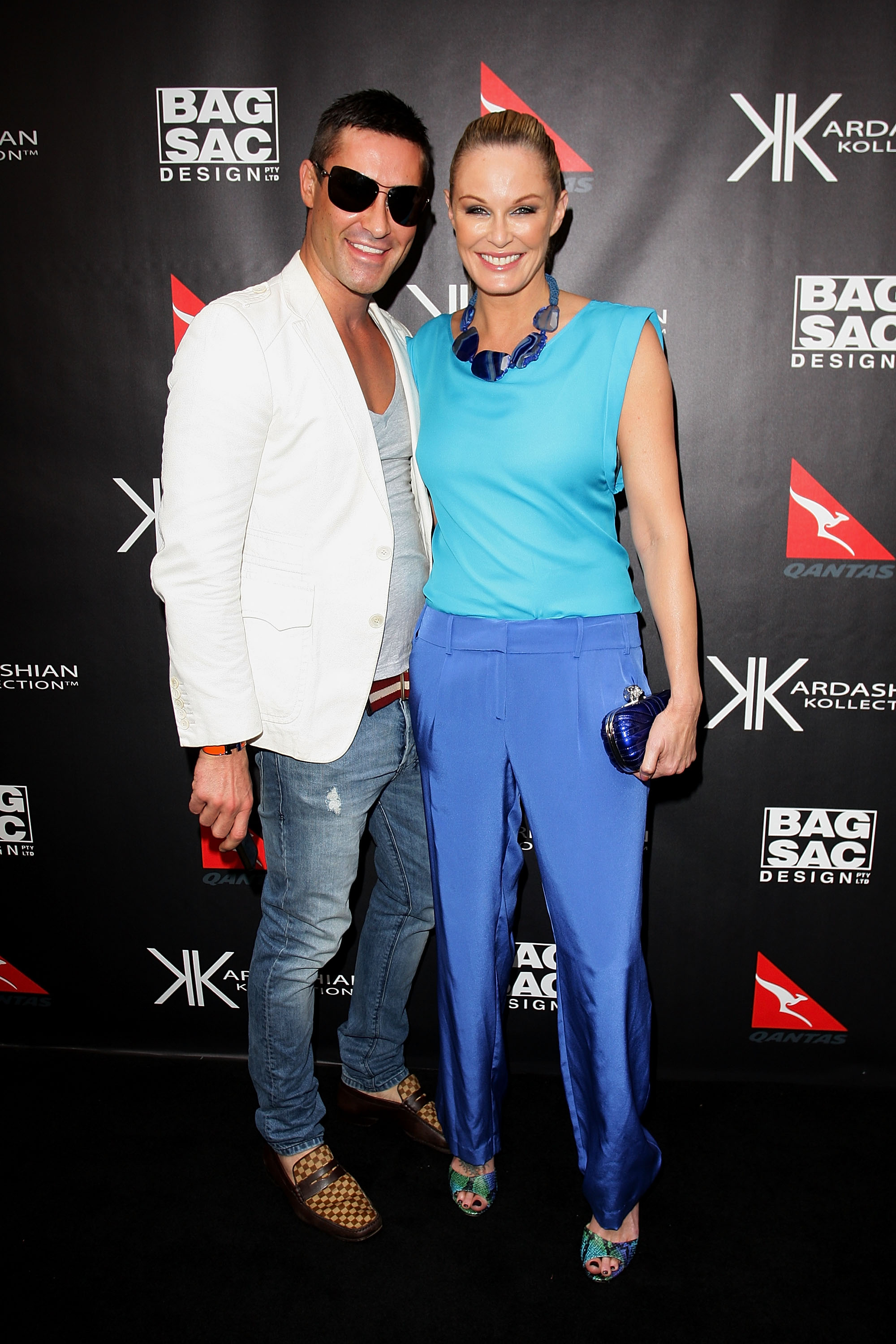 Adam Williams and Charlotte Dawson at the Kardashian Kollection launch.