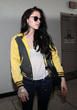 Kristen Stewart sported sunglasses at the airport.