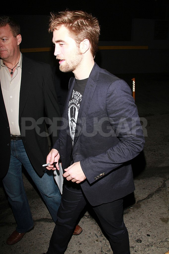 Robert Pattinson brought his beard to LA.