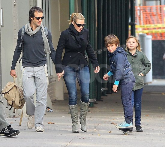 Kate Winslet Holds Her Man's Hand During a Stroll With Mia and Joe