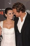 Matthew McConaughey and Penélope Cruz shared a sweet moment at the March 2006 premiere of Volver in Madrid.