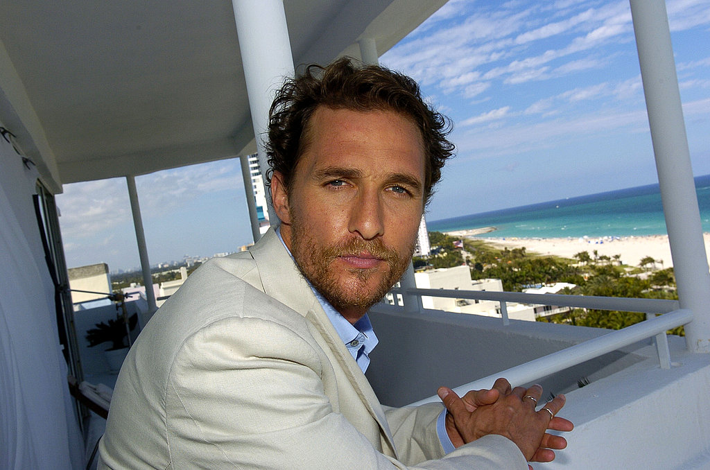 Matthew McConaughey looked sexy and scruffy in Miami while promoting Sahara in April 2005.
