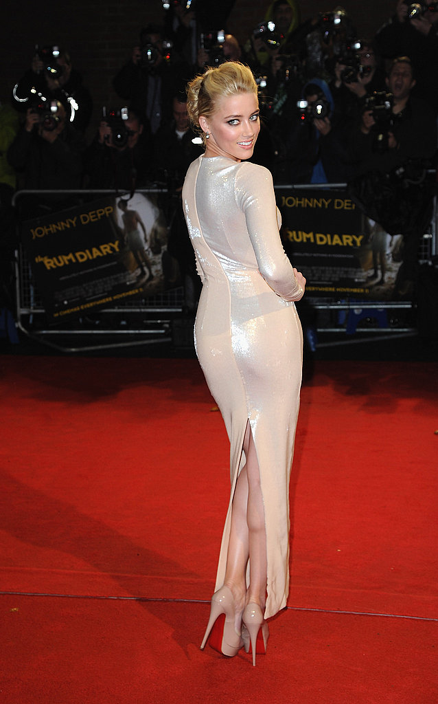 Amber Heard shared a rear view of her gown.