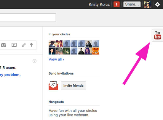 Google+ Adds YouTube Integration