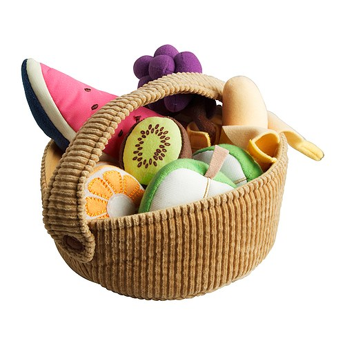 DUKTIG 9-Piece Fruit Basket Set