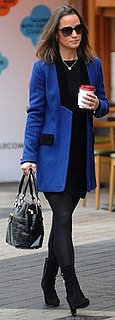 Pippa Middleton in Blue Sara Berman Blazer and Modalu Bag
