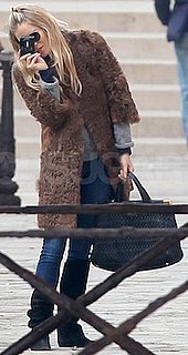 Sienna Miller With Black Miu Miu Bag in Venice