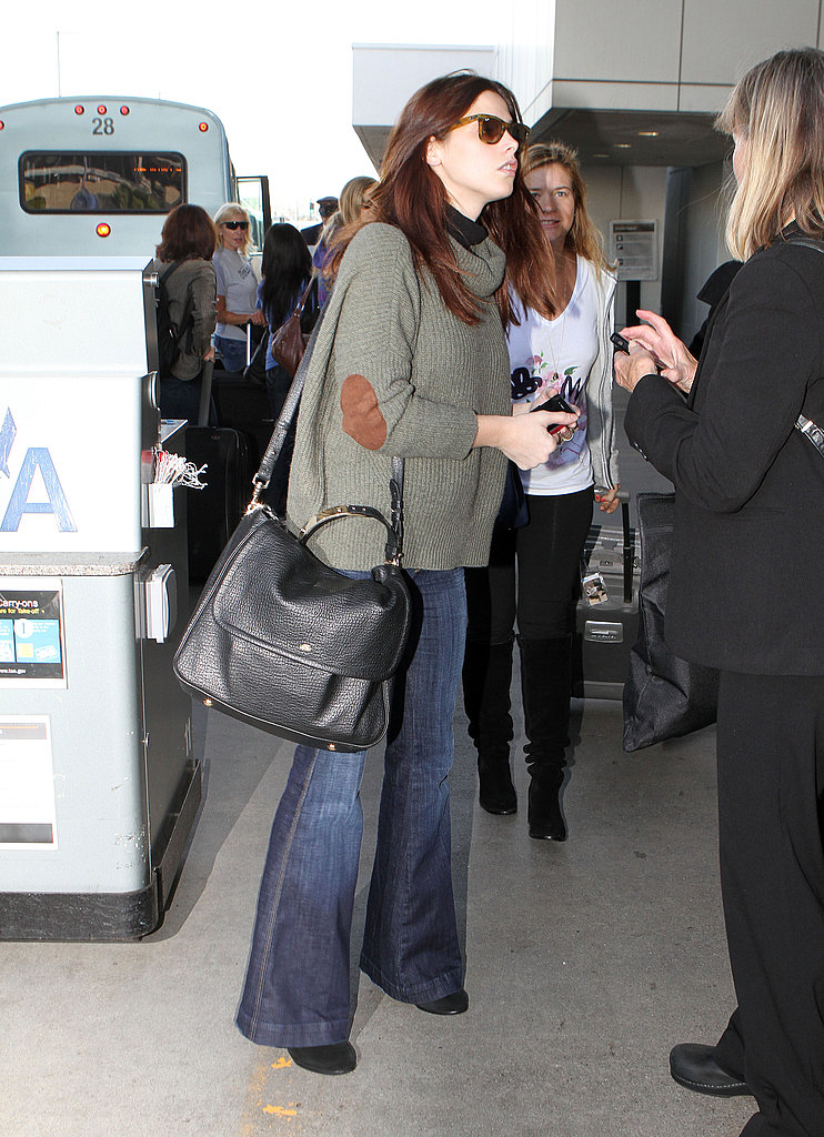 Ashley Greene waited for her ride at LAX.