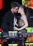 Fans were hoping that Robert Pattinson and Kristen Stewart would smooch on stage while accepting their best kiss award at the MTV Movie Awards in 2010 — unfortunately, they didn't.