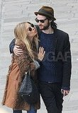 Sienna Miller leaned in for a kiss from Tom Sturridge in Venice.