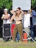 Jennifer Lopez danced for the camera in Argentina.