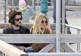 Sienna Miller and Tom Sturridge took in the sights of Venice together.