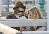 Sienna Miller and Tom Sturridge did some light reading together.